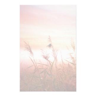 Foggy Landscape.Early Morning Mist. Stationery