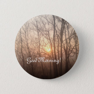 Foggy Michigan morning Button