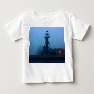 Foggy Mid Pier Lighthouse Baby T-Shirt