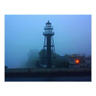 Foggy Mid Pier Lighthouse Custom Flyer