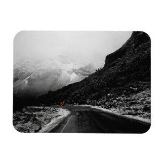 "Foggy Misty Mountain Road Landscape 3""x4"" Magnet"