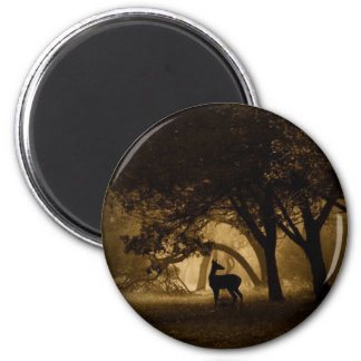 Foggy Morning 2 Inch Round Magnet