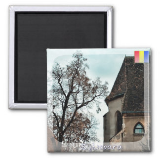 Foggy morning 2 inch square magnet