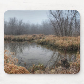 Foggy Morning At A Marsh Mouse Pad