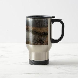 Foggy Morning At A Marsh Travel Mug