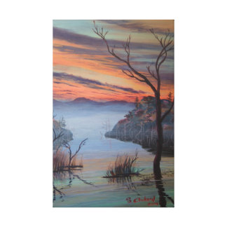 Foggy Morning at Lake Pass Canvas Print