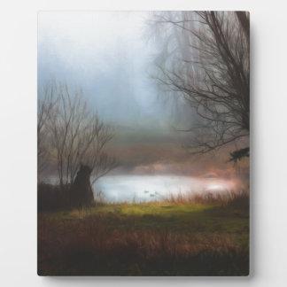 Foggy Morning Ducks Plaque