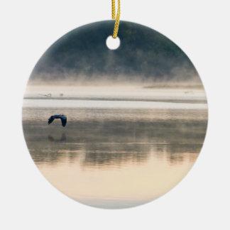 Foggy Morning Flight Ceramic Ornament