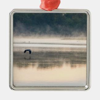 Foggy Morning Flight Metal Ornament