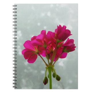 Foggy Morning Geranium Notebook