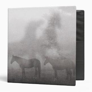 Foggy Morning Horse 3 Ring Binder