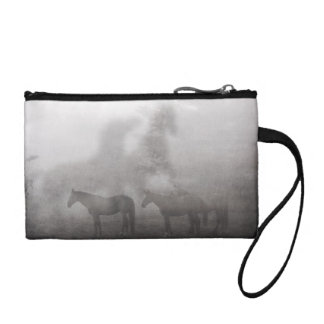Foggy Morning Horse Coin Wallets