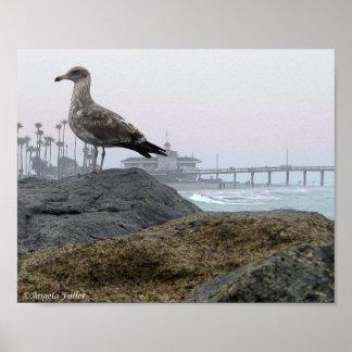 Foggy Morning in Newport Beach Print