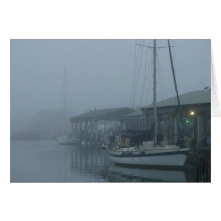 Foggy Morning in Port Mansfield Card