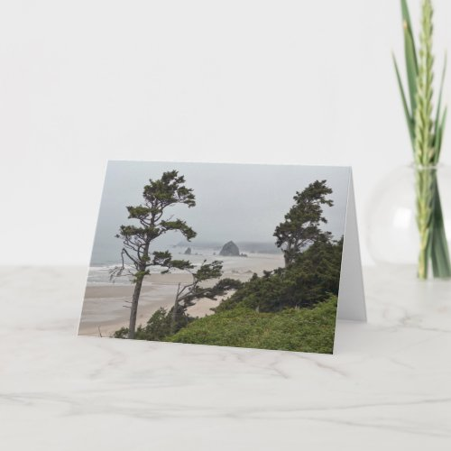 Foggy Morning on Cannon Beach, Oregon Card