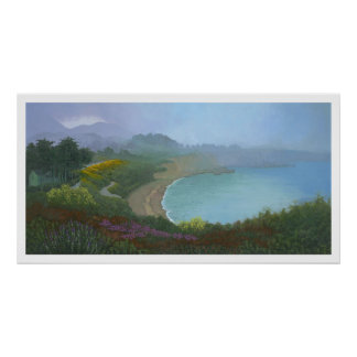 Foggy Morning on the Bluffs Poster