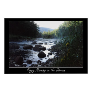 Foggy Morning on the Stream Poster