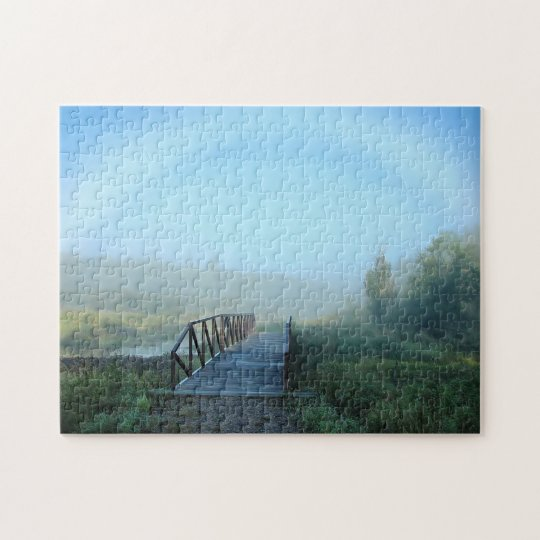 Foggy Morning Scenic Large Photo Puzzle