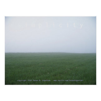 Foggy Morning: Simplicity Poster