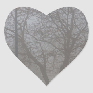 Foggy Morning Heart Sticker