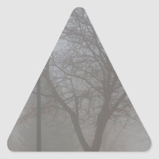Foggy Morning Triangle Sticker