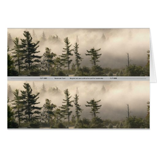 Foggy Mountain Meadow Bookmark Stationery Note Card