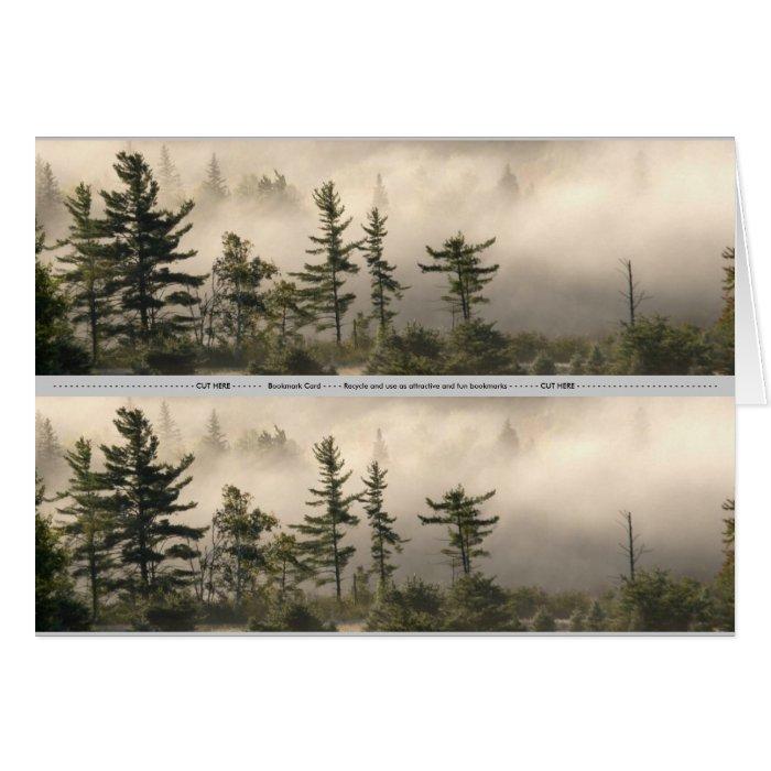 Foggy Mountain Meadow Bookmark Card