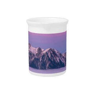 Foggy Mountain Peaks Drink Pitcher