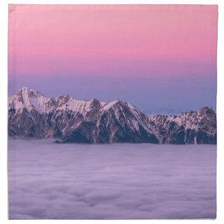 Foggy Mountain Peaks Napkin