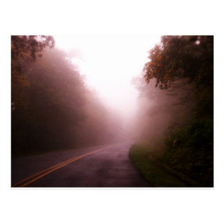 Foggy Mountain Road Postcard