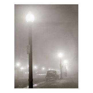 Foggy Night, 1941 Postcard