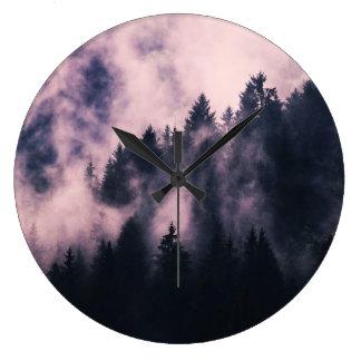 Foggy Night Large Clock