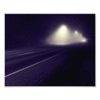 Foggy Night Photo Print