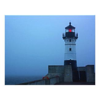 Foggy North Pier Lighthouse Flyer Design