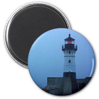 Foggy North Pier Lighthouse Magnet
