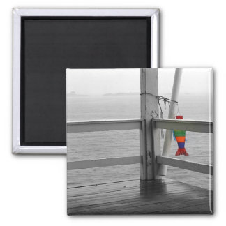 Foggy Oceanic View 2 Inch Square Magnet