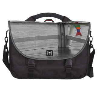 Foggy Oceanic View Bags For Laptop