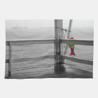 Foggy Oceanic View Hand Towels