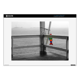 """Foggy Oceanic View 15"""" Laptop Decal"""