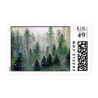 Foggy Pines Stamp