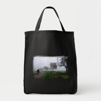 Foggy Rider Canvas Bag