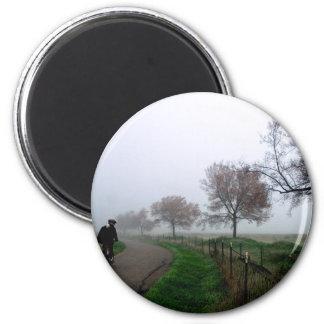Foggy Rider Fridge Magnet