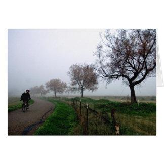 Foggy Rider Greeting Card