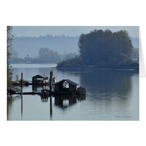 Foggy River Customizable Card
