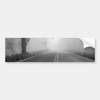 Foggy Road Bumper Sticker
