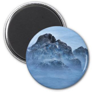 foggy rock 16x10 magnet