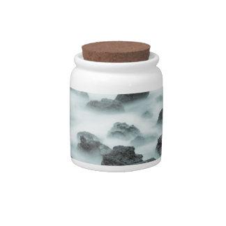 Foggy Rocks Candy Jar