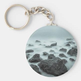 Foggy Rocks Keychain