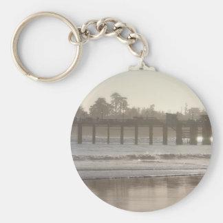 Foggy Santa Cruz Wharf Keychain