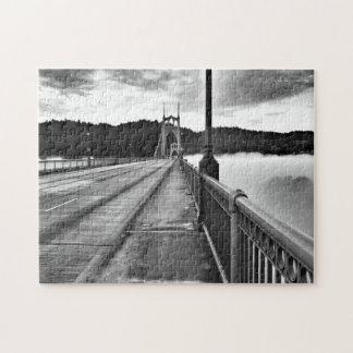 Foggy St Johns Bridge Jigsaw Puzzle